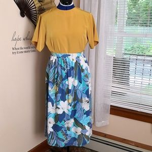 Vintage 1980s personally styled skirt set